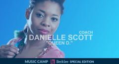 "Danielle ""Queen D."" Scott docente dei Music Camp - Berklee Special Edition"